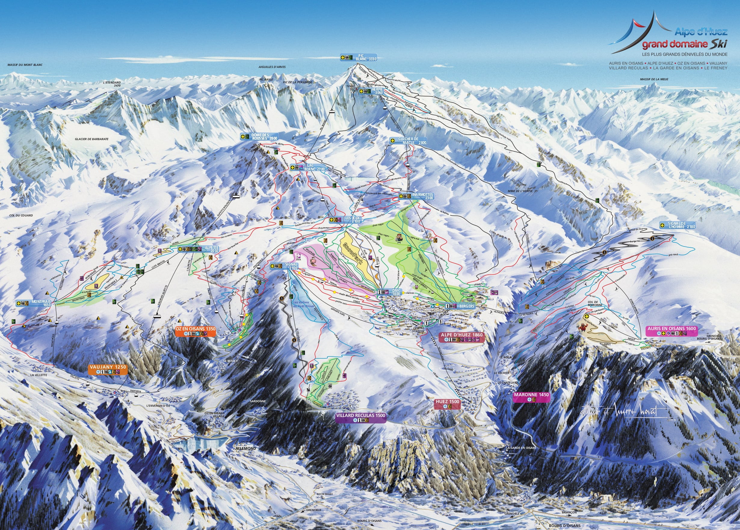 Alpe d'Huez Piste / Trail Map