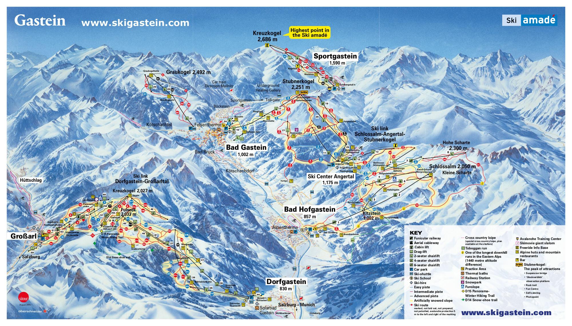 карты трасс в Bad Gastein