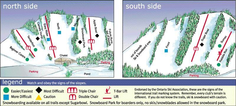 Chicopee Piste / Trail Map