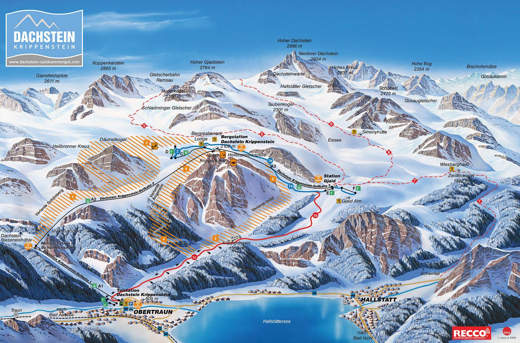 трасс в Dachstein Glacier