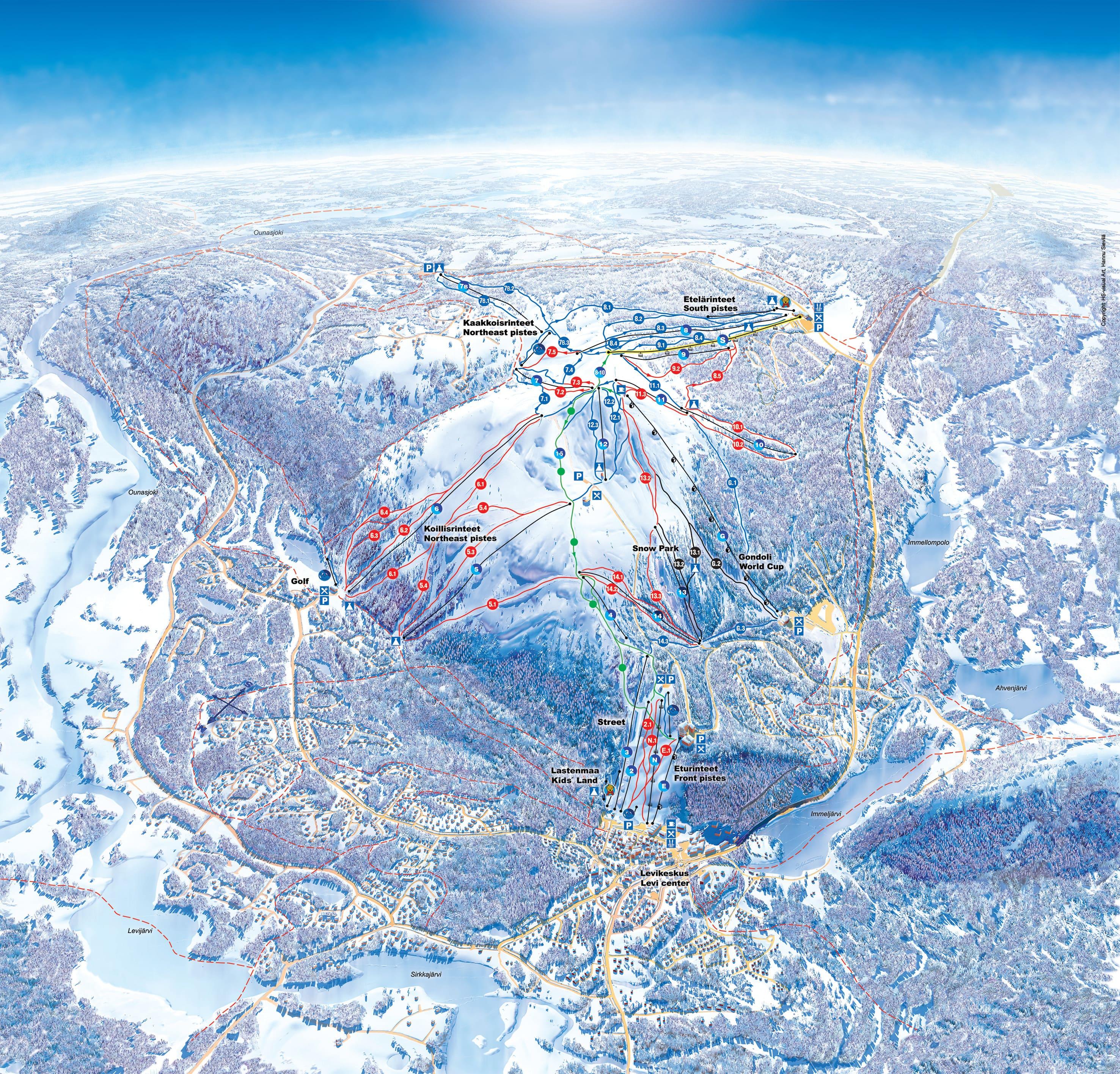 карты трасс в Damüls