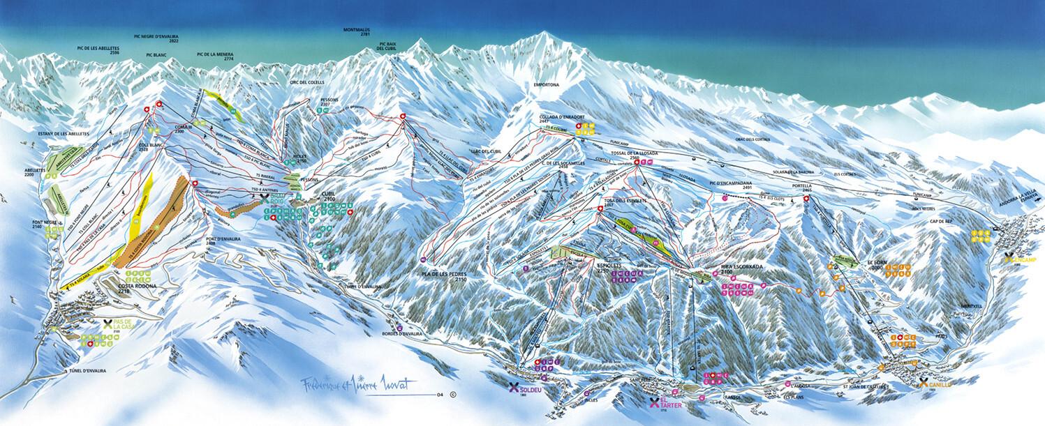 карты трасс в Grandvalira