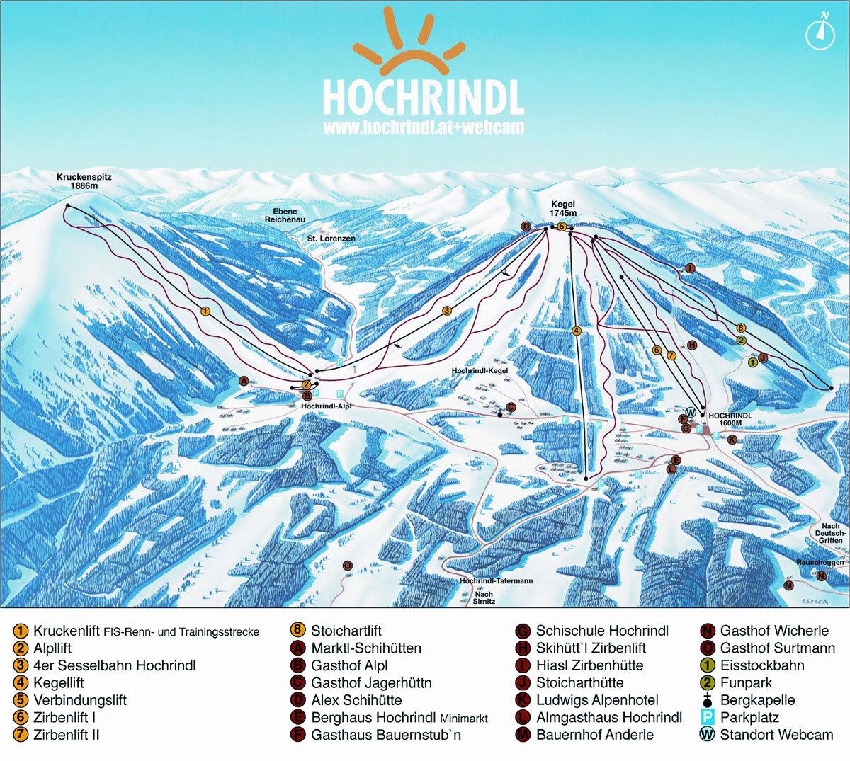 карты трасс в Hochrindl