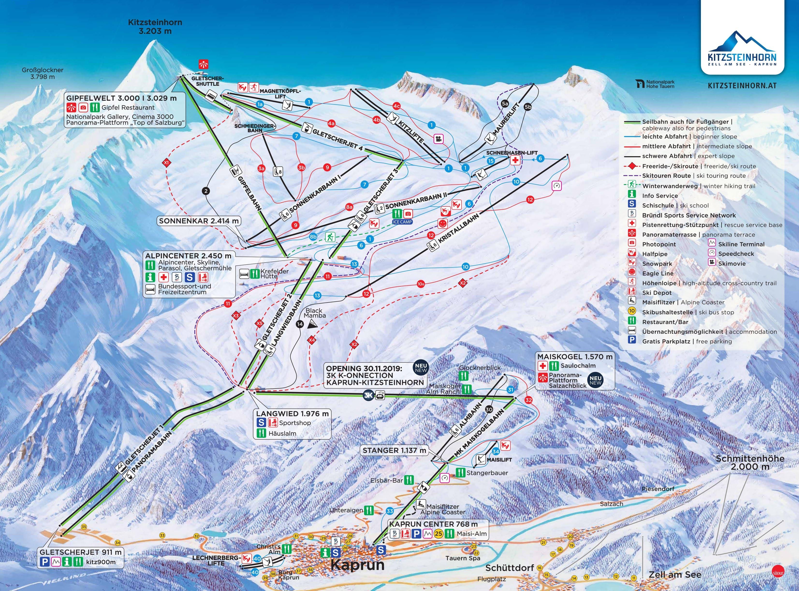 карты трасс в Kaprun