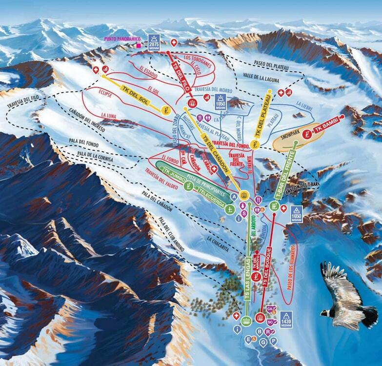 La Hoya Piste / Trail Map