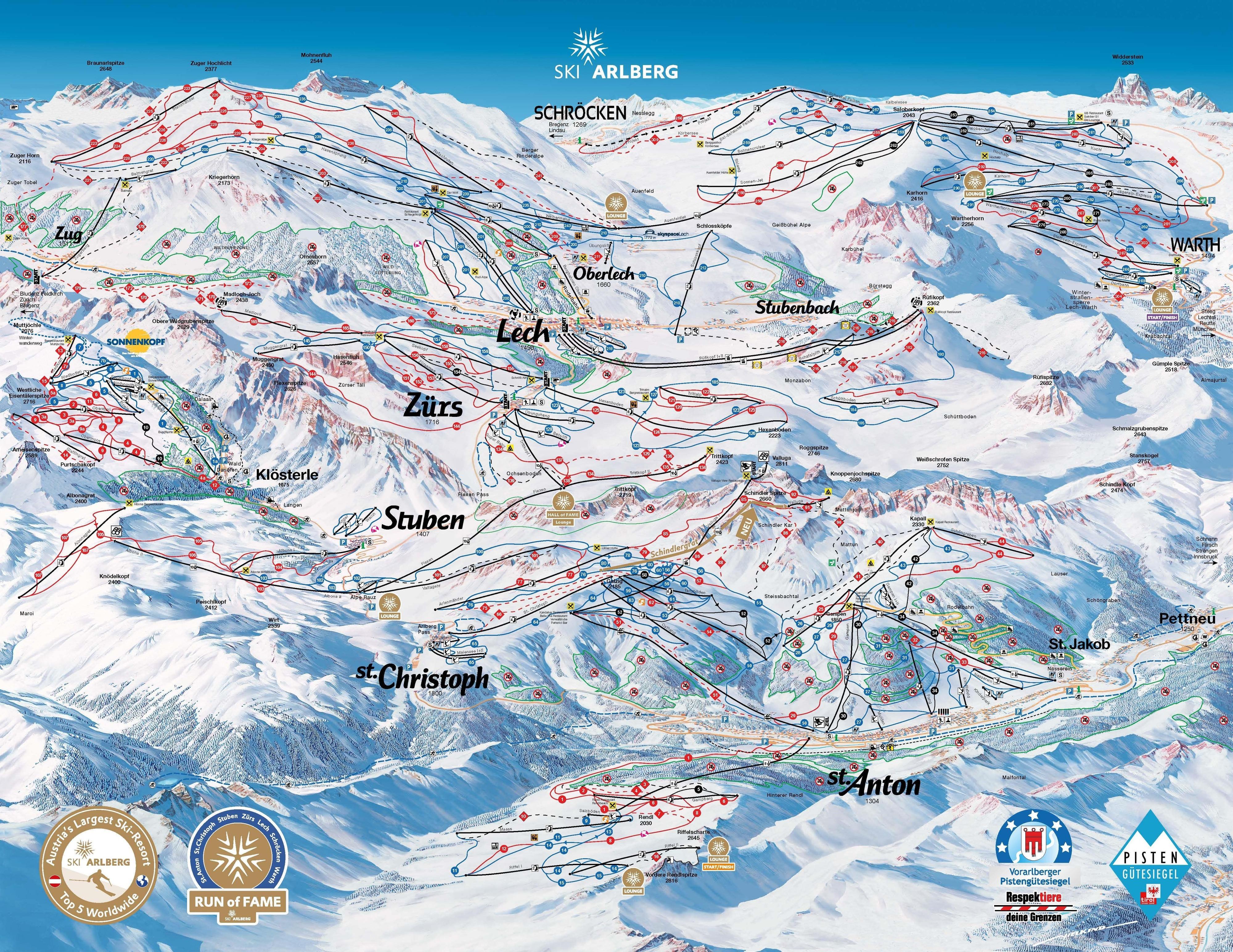 версию карты трасс в Lech