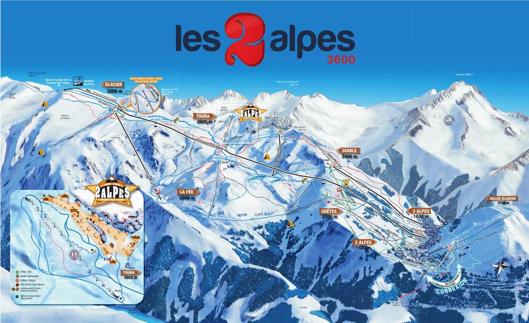трасс в Les Deux Alpes