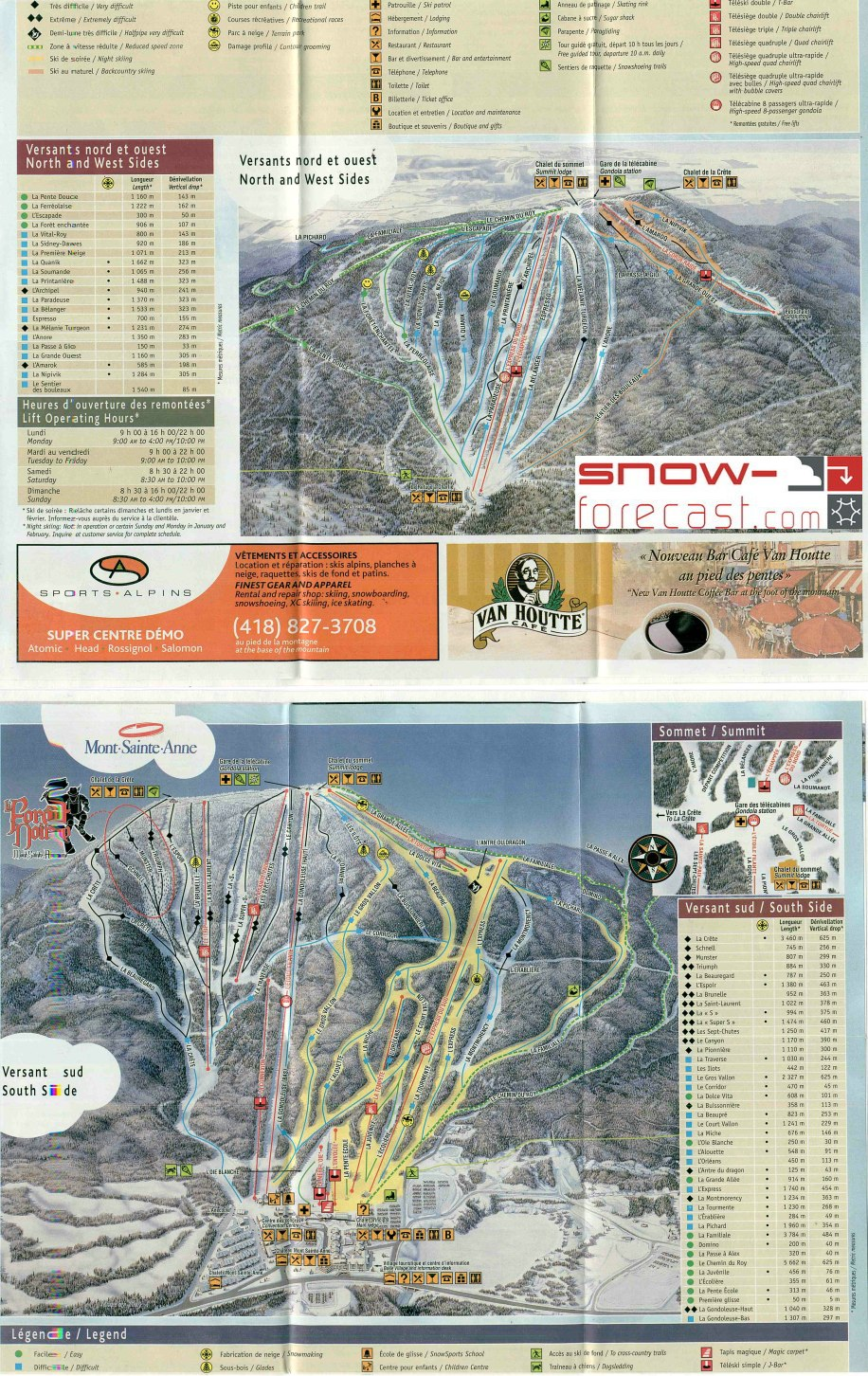 Mont Sainte-Anne Piste / Trail Map
