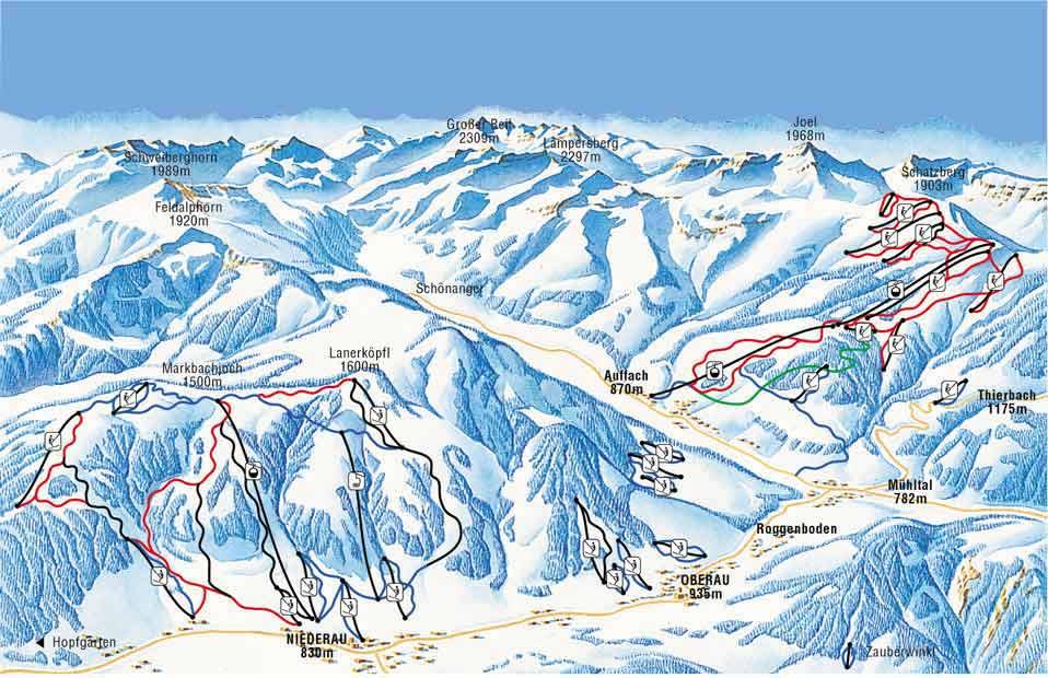 карты трасс в Niederau -