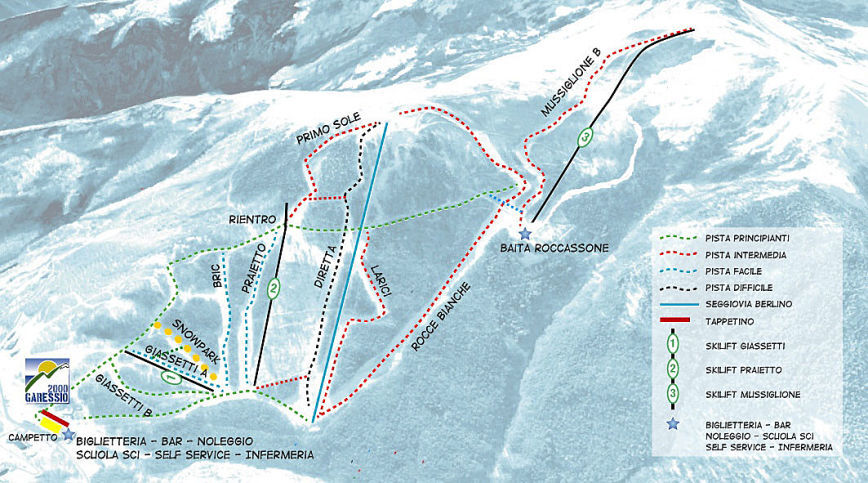 Pettneu Piste / Trail Map