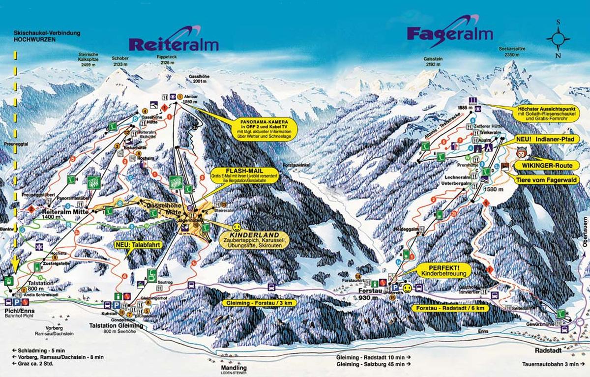 карты трасс в Reiteralm