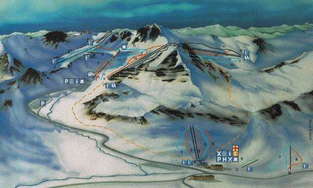 San-Isidro Piste / Trail Map