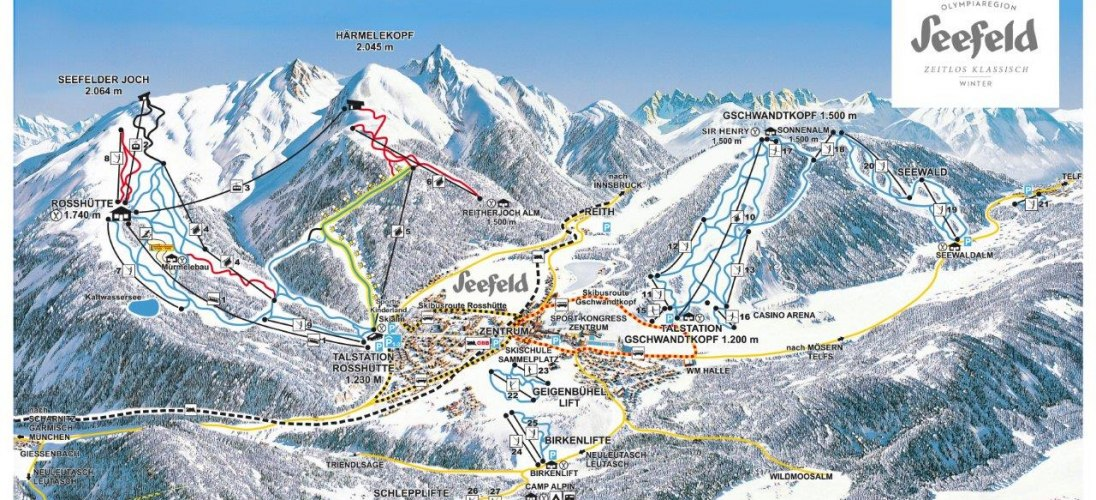 Seefeld Piste / Trail Map