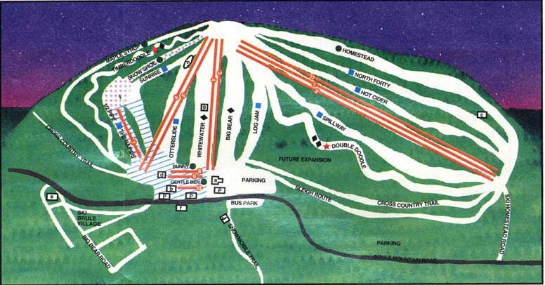 Ski Brule Piste / Trail Map