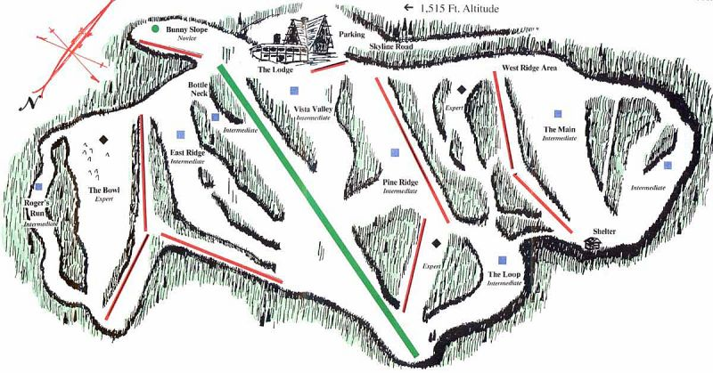 Skyline SA Piste / Trail Map