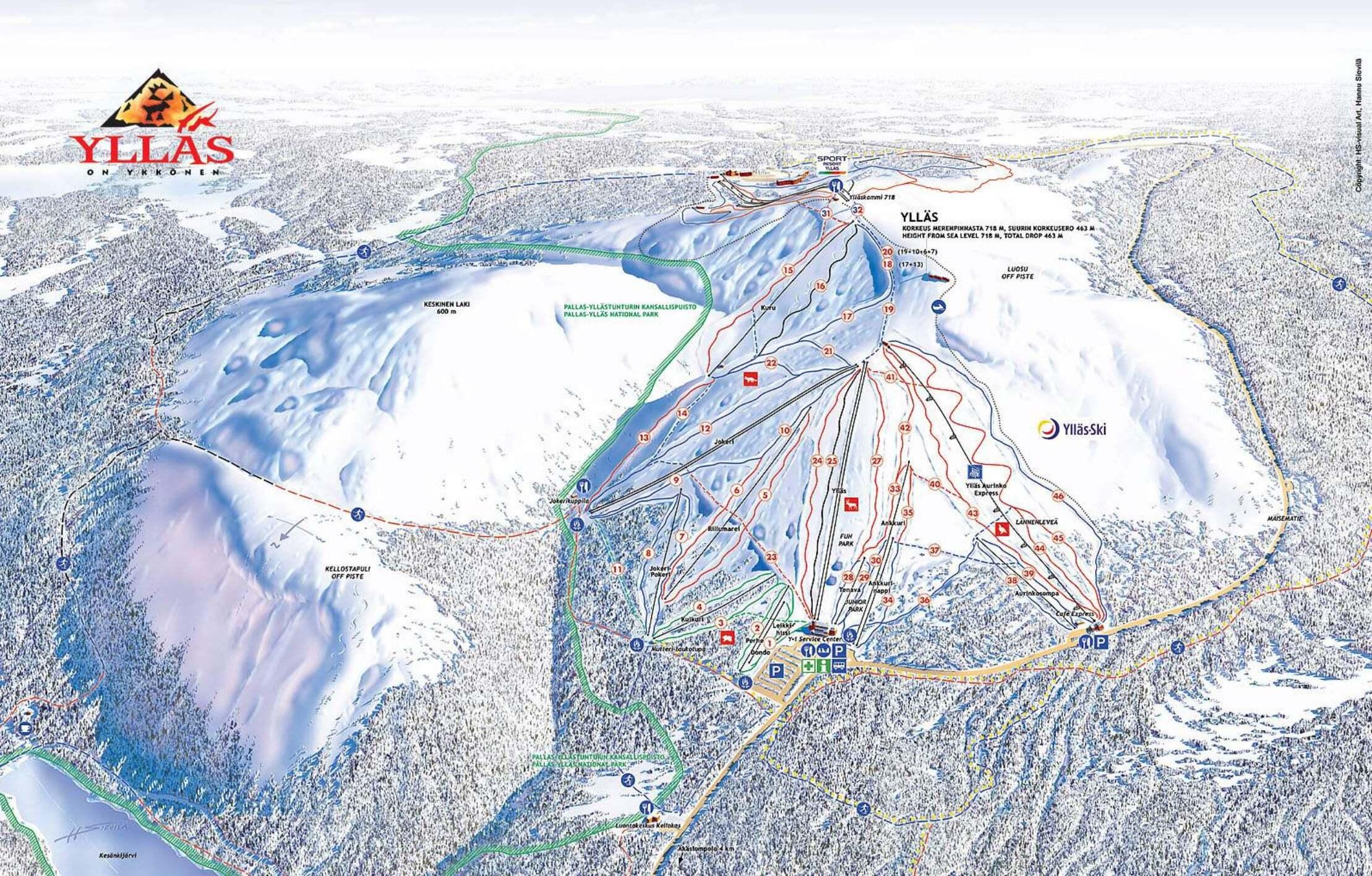 It...  Кликните по изображению, чтобы увидеть полную версию карты трасс в Yllas.