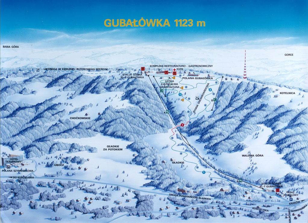 Карта склонов Gubalowka.