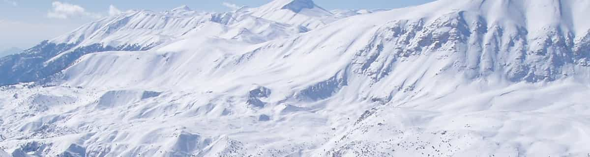 snowy resort image