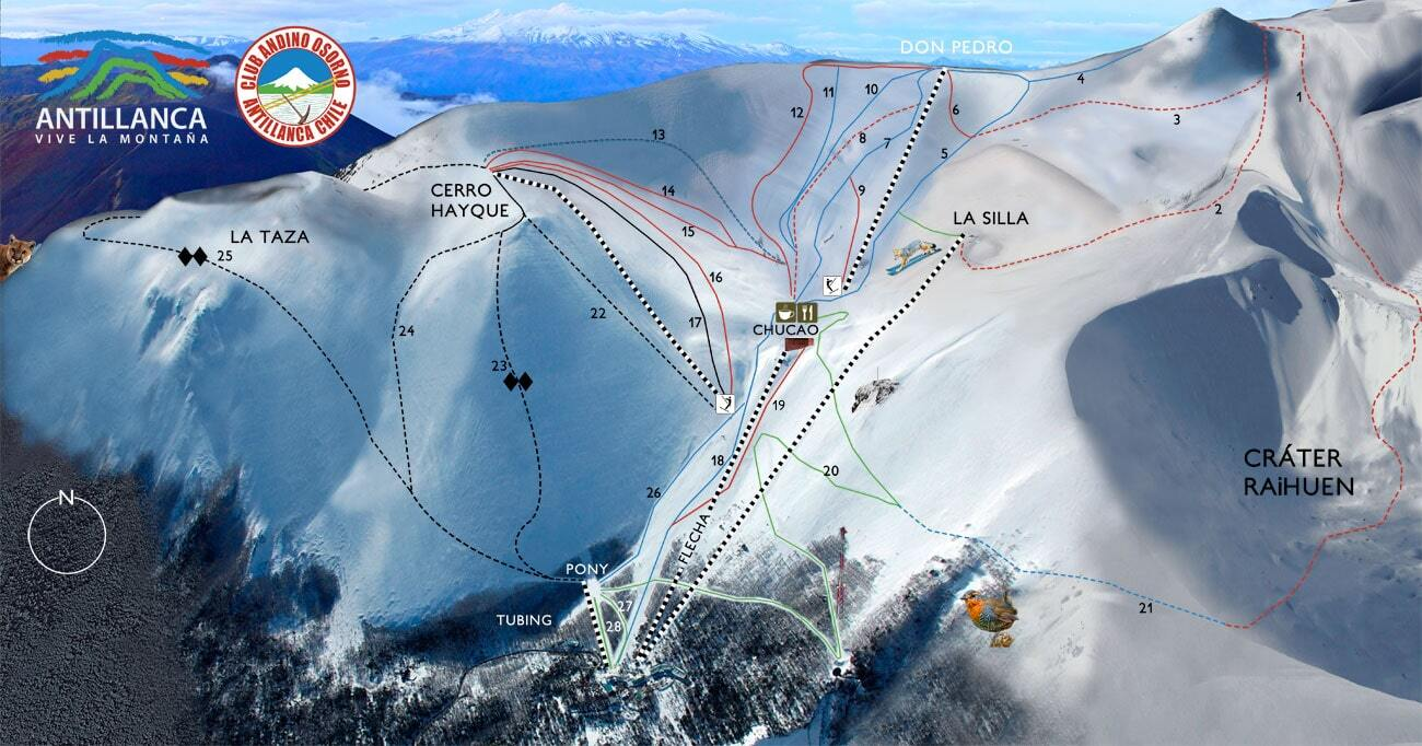 Antillanca Piste / Trail Map