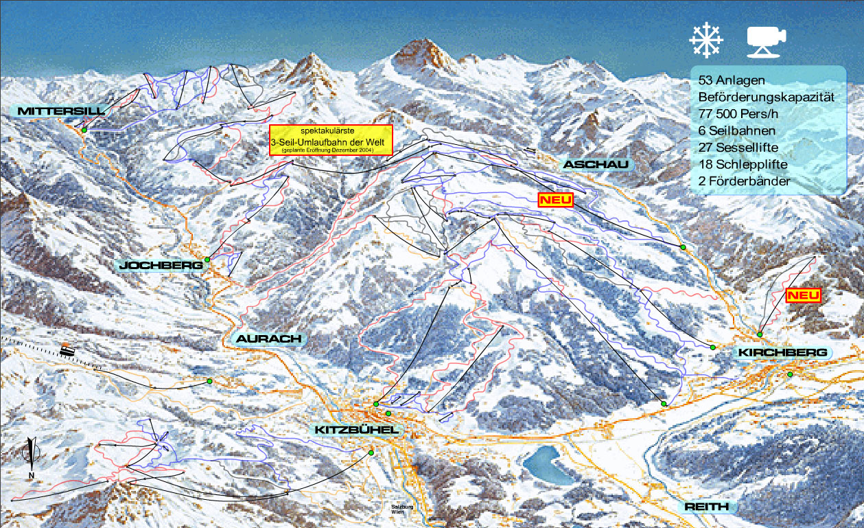 Kirchberg Piste / Trail Map