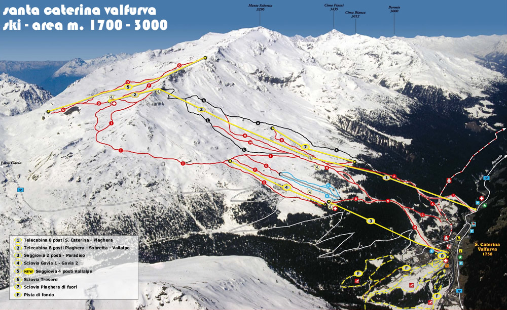 Santa Caterina Valfurva Piste / Trail Map